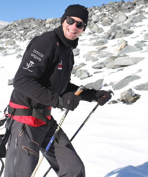 Alexander Skarsgard training for walk to the South Pole