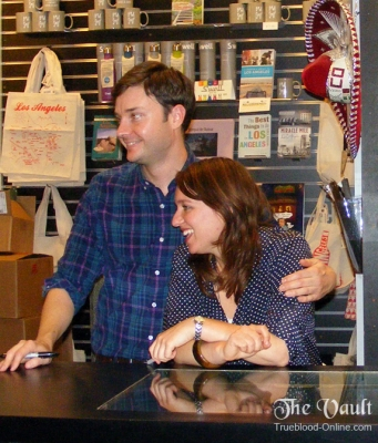 Michael McMillian and Gianna Sobel at Book signing of their book.