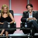 Paquin and Moyer at the Television Critics Association interview