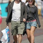 Anna Paquin and Stephen Moyer have fun on the beach