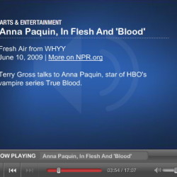 Radio interview with Anna Paquin