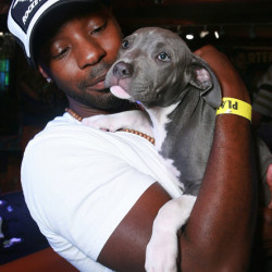 Nelsan Ellis' puppy love