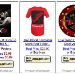 True Blood merchandise from Amazon ships world-wide