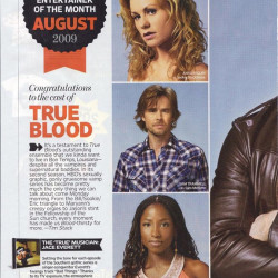 "True Blood is EW ""Entertainer of the Month"""
