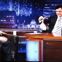 Ryan Kwanten gives Jimmy Kimmel the sock