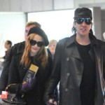 Evan Rachel Wood and Marilyn Manson spotted in Paris Airport