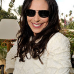 Michelle Forbes poses at the Solstice Sunglass Boutique at HBO Luxury Lounge