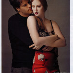 Deborah Ann Woll with boyfriend E. J. Scott in Elle Magazine