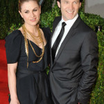 Anna Paquin and Stephen Moyer attend the Vanity Fair Oscar Party