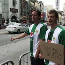 Alexander Skarsgård Hitchhiking in commercial: The Road Trip 2010