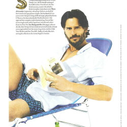 Joe Manganiello and Theo Alexander in Out Magazine