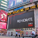 Rehydrate Billboard: Time Square and 42nd St. in NYC
