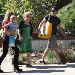 Stephen Moyer and Anna Paquin out and about