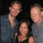 Alexander Skarsgård poses with a fan in Sweden