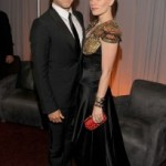 Stephen Moyer and Anna Paquin in the Green Room at the Emmy Awards