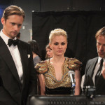 Back Stage at the Emmy's with Alexander Skarsgård, Anna Paquin and Stephen Moyer