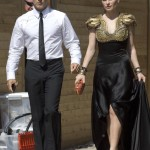 Anna Paquin and Stephen Moyer leave for the Emmy Awards