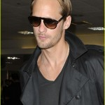 Alexander Skarsgård arrives back in the US to attend the Emmy's