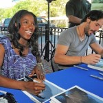 Rutina Wesley and Joe Manganiello at True Blood Bash