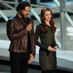 Evan Rachel Wood and Joe Manganiello present at the MTV Video Music Awards
