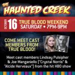 Lindsay Pulsipher and Joe Manganiello at True Blood Weekend