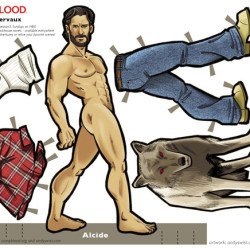 True Blood: Werewolf, Alcide Herveaux Paper Doll