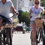 Stephen Moyer and Anna Paquin out for a bike ride