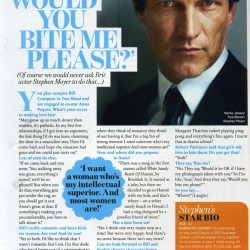 Stephen Moyer featured in October Cosmopolitan UK Magazine
