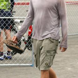 Stephen Moyer attends Triathlon in Venice Beach, CA