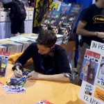 Michael McMillian signs advance copies of Lucid #2 at Long Beach Comic Con