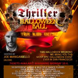 Joe Manganiello and Ryan Kwanten at SF Thriller Halloween Ball
