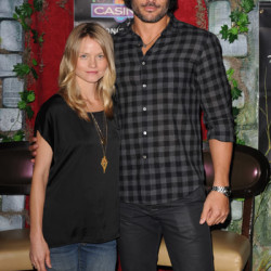 Joe Manganiello and Lindsey Pulsipher at the Coconut Casino in Florida