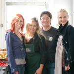 "Carrie Preston visits soup kitchen while filming ""That's What She Said"""