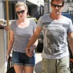 Anna Paquin and Stephen Moyer shopping in Santa Monica, CA