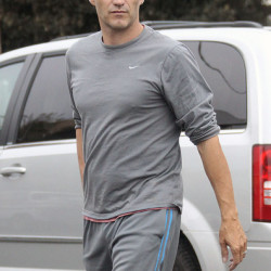 Stephen Moyer heads to the gym in LA