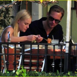 Alexander Skarsgård and Kate Bosworth have a quiet lunch