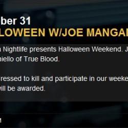 Spend Halloween with Joe Manganiello at the Borgata
