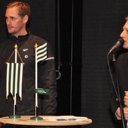 Alexander Skarsgård attends Bajen Aid-auction in Sweden