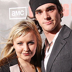 Lindsey Haun and RJ Mitte Create 'Doggie Heaven' on Movie Set