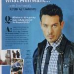 Kevin Alejandro in Latina Magazine