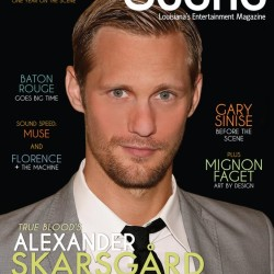 Alexander Skarsgård on the cover of Scene Magazine