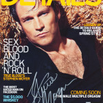 Details Magazine signed by Stephen Moyer auctioned for charity