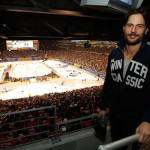 Joe Manganiello attends Pittsburgh Penguins Game