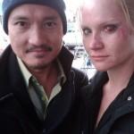 Photo: Tara Buck on the set of TNT's Southland