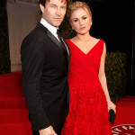 Stephen Moyer and Anna Paquin attend the 2011 Vanity Fair Oscar Party
