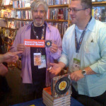 Gary Calamar signs his book Radio Store Days at SXSW