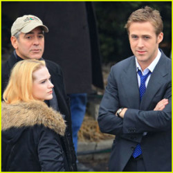 Photos: Evan Rachel Wood on the set of 'The Ides of March'