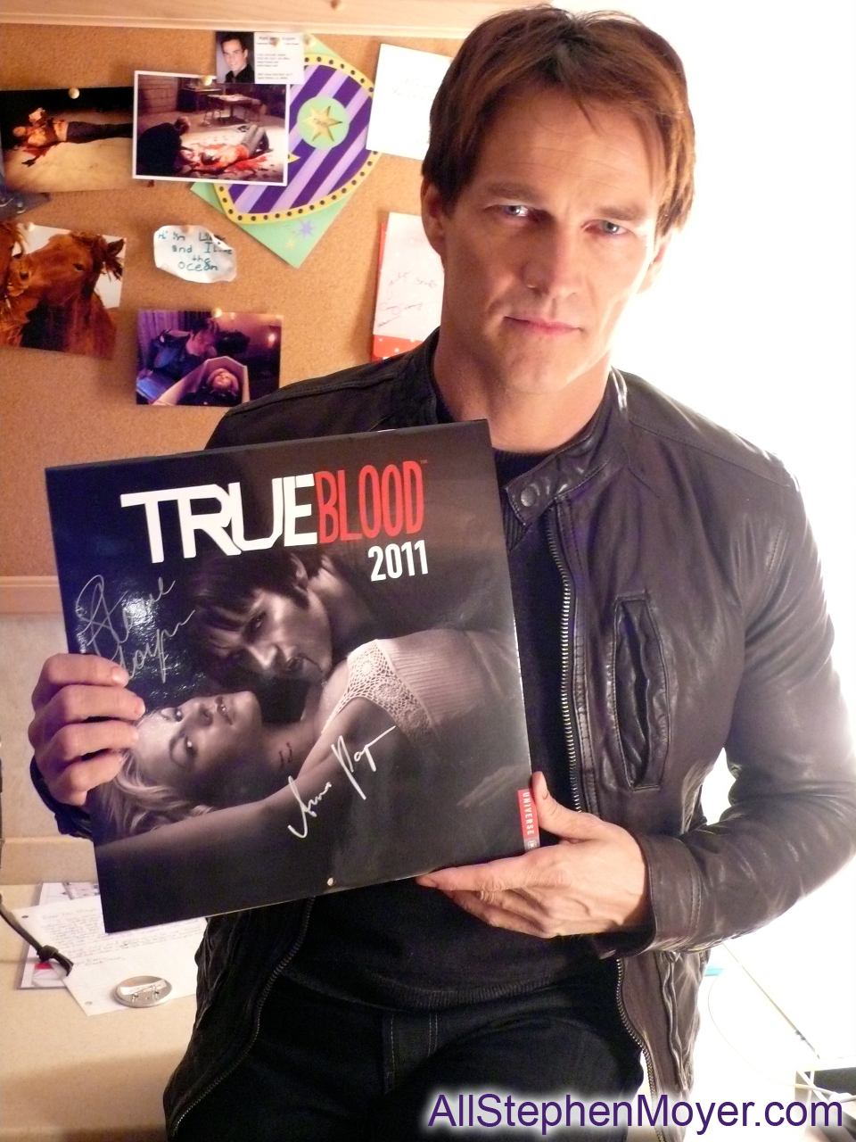 charity auction of true blood calendar signed by stephen moyer and all