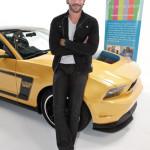 Joe Manganiello at Ford Mustang Boss workshop for Art Of Elysium