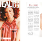 Carrie Preston on the cover of LA Health Magazine